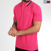 /achat-polos-manches-courtes/tommy-jeans-polo-manches-courtes-classics-tipped-7195-rose-fushia-209084.html
