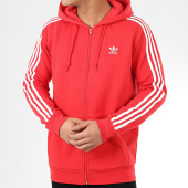 /achat-sweats-zippes-capuche/adidas-sweat-zippe-capuche-a-bandes-3-stripes-fz-fm3764-rouge-209347.html