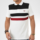 /achat-polos-manches-courtes/fred-perry-polo-manches-courtes-tape-detail-m8540-ecru-209390.html