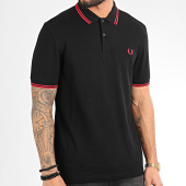 /achat-polos-manches-courtes/fred-perry-polo-manches-courtes-twin-tipped-m3600-noir-209392.html