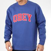 /achat-sweats-col-rond-crewneck/obey-sweat-crewneck-sports-ii-bleu-roi-209236.html