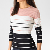 https://www.laboutiqueofficielle.com/achat-pulls/only-pull-slim-femme-a-rayures-natalia-stripe-rose-ecru-bleu-marine-209257.html