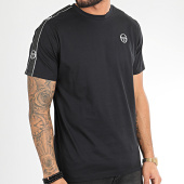 /achat-t-shirts/sergio-tacchini-tee-shirt-a-bandes-feather-38536-noir-209468.html