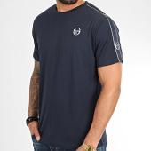 /achat-t-shirts/sergio-tacchini-tee-shirt-a-bandes-feather-38536-bleu-marine-209469.html