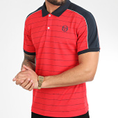 /achat-polos-manches-courtes/sergio-tacchini-polo-manches-courtes-a-rayures-et-bandes-fundi-38638-rouge-209610.html