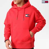 /achat-sweats-capuche/tommy-hilfiger-jeans-sweat-capuche-tommy-badge-6593-rouge-209479.html