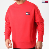 /achat-sweats-col-rond-crewneck/tommy-hilfiger-jeans-sweat-crewneck-tommy-badge-6592-rouge-209471.html