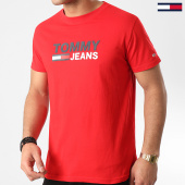 /achat-t-shirts/tommy-hilfiger-jeans-tee-shirt-corp-logo-7843-rouge-209484.html