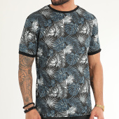 /achat-t-shirts/american-people-tee-shirt-makis-noir-bleu-marine-floral-209887.html