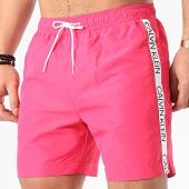 /achat-maillots-de-bain/calvin-klein-short-de-bain-a-bandes-medium-drawstring-0434-rose-209930.html