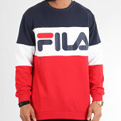 /achat-sweats-col-rond-crewneck/fila-sweat-crewneck-tricolore-688050-straight-blocked-noir-rouge-blanc-209833.html
