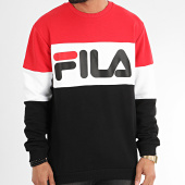 /achat-sweats-col-rond-crewneck/fila-sweat-crewneck-tricolore-688050-straight-blocked-rouge-noir-blanc-209835.html