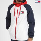 /achat-vestes/tommy-jeans-veste-zippee-capuche-tricolore-colorblock-8096-blanc-bleu-marine-rouge-209913.html