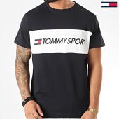 /achat-t-shirts/tommy-sport-tee-shirt-colourblock-logo-bleu-marine-210002.html