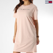 /achat-robes/tommy-hilfiger-robe-tee-shirt-femme-rn-half-sleeve-1639-rose-clair-210039.html
