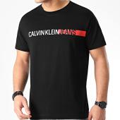 /achat-t-shirts/calvin-klein-tee-shirt-stripe-institutional-logo-4808-noir-210310.html