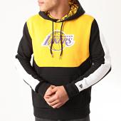 /achat-sweats-capuche/new-era-sweat-capuche-a-bandes-nba-colour-block-los-angeles-lakers-12195396-noir-jaune-210304.html