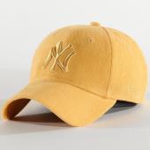 /achat-casquettes-de-baseball/new-era-casquette-femme-9forty-pastel-corduroy-12285199-new-york-yankees-jaune-210360.html