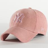 /achat-casquettes-de-baseball/new-era-casquette-femme-9forty-pastel-corduroy-12285200-new-york-yankees-rose-210361.html