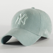 /achat-casquettes-de-baseball/new-era-casquette-femme-9forty-pastel-corduroy-12285201-new-york-yankees-turquoise-210362.html