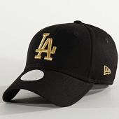 /achat-casquettes-de-baseball/new-era-casquette-femme-9forty-metallic-12285205-los-angeles-dodgers-noir-dore-210366.html