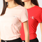 /achat-t-shirts/calvin-klein-jeans-lot-de-2-tee-shirts-slim-4364-rouge-rose-210673.html