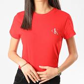 /achat-t-shirts/calvin-klein-tee-shirt-femme-qs6356e-rouge-210738.html
