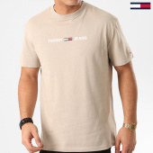 /achat-t-shirts/tommy-hilfiger-jeans-tee-shirt-straight-small-logo-7621-beige-210749.html