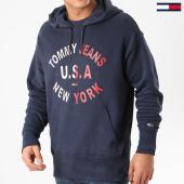 /achat-sweats-capuche/tommy-hilfiger-jeans-sweat-capuche-arched-graphic-7885-bleu-marine-210754.html