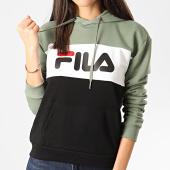 /achat-sweats-capuche/fila-sweat-capuche-femme-tricolore-lori-noir-vert-kaki-210896.html