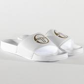 /achat-claquettes-sandales/sergio-tacchini-claquettes-remix-fur-stm019006-white-gold-211143.html