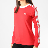 /achat-t-shirts-manches-longues/adidas-tee-shirt-femme-manches-longues-a-bandes-3-stripes-fm3294-rouge-211351.html