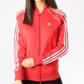 /achat-vestes/adidas-veste-zippee-femme-a-bandes-fm3313-rouge-211355.html