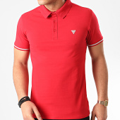 /achat-polos-manches-courtes/guess-polo-manches-courtes-m02p45-rouge-211339.html
