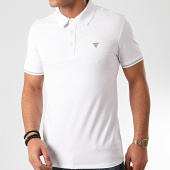 /achat-polos-manches-courtes/guess-polo-manches-courtes-m02p45-blanc-211341.html