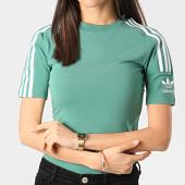 /achat-t-shirts/adidas-tee-shirt-slim-femme-a-bandes-fm2593-vert-clair-211679.html