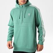/achat-sweats-capuche/adidas-sweat-capuche-col-zippe-a-bandes-fm3766-vert-211681.html