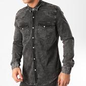 /achat-chemises-manches-longues/classic-series-chemise-jean-manches-longues-jch-804-noir-delave-211853.html