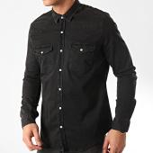 /achat-chemises-manches-longues/classic-series-chemise-jean-manches-longues-jch-804-noir-211858.html