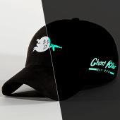 /achat-casquettes-de-baseball/jeune-riche-casquette-suede-ghost-noir-phosphorescent-211685.html