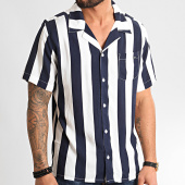 /achat-chemises-manches-courtes/mz72-chemise-manches-courtes-chew-blanc-bleu-marine-211634.html