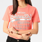 /achat-t-shirts/superdry-tee-shirt-slim-femme-pg-metallic-entry-w1010049a-rose-argente-211873.html