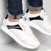 /achat-baskets-basses/calvin-klein-baskets-jerrold-low-top-lace-up-nylon-s0615-white-black-212018.html