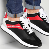 /achat-baskets-basses/calvin-klein-baskets-jerrold-low-top-lace-up-nylon-s0615-black-racing-red-212020.html