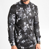 /achat-chemises-manches-longues/ikao-chemise-manches-longues-f874-noir-floral-212175.html