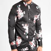 /achat-chemises-manches-longues/ikao-chemise-manches-longues-f872-noir-floral-212178.html
