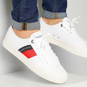 /achat-baskets-basses/pepe-jeans-baskets-malibu-summer-pms30631-white-213169.html