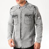 /achat-chemises-manches-longues/uniplay-chemise-en-jean-275-gris-213032.html