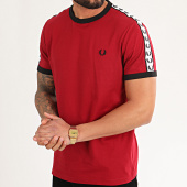 /achat-t-shirts/fred-perry-tee-shirt-a-bandes-taped-ringer-m6347-rouge-213467.html