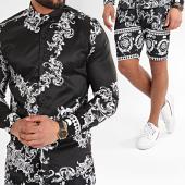 /achat-ensembles-survetement/ikao-ensemble-short-chemise-f873-noir-renaissance-floral-213306.html